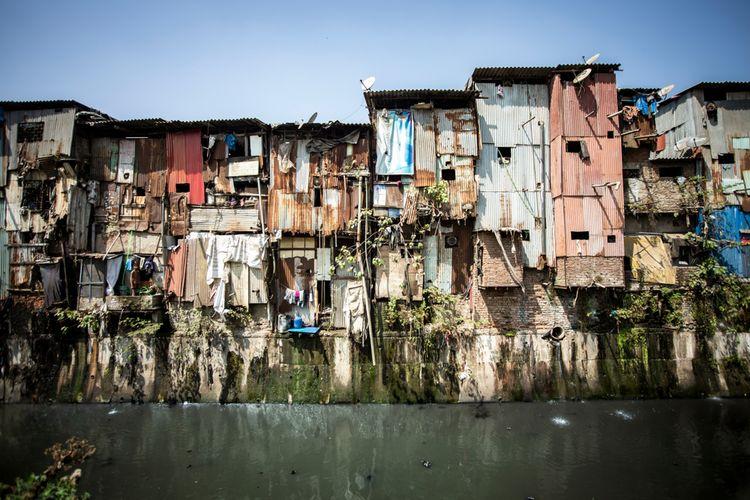 Dharavi, salah satu daerah di Mumbai, India.