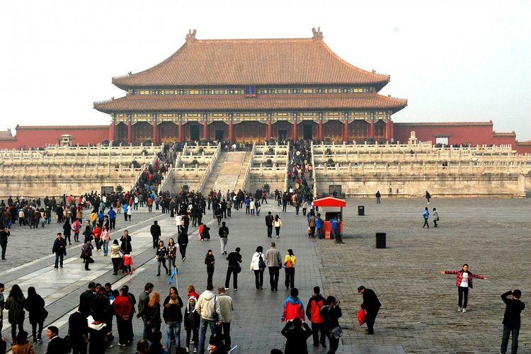 Ilustrasi China - Kota Terlarang / The Forbidden City.
