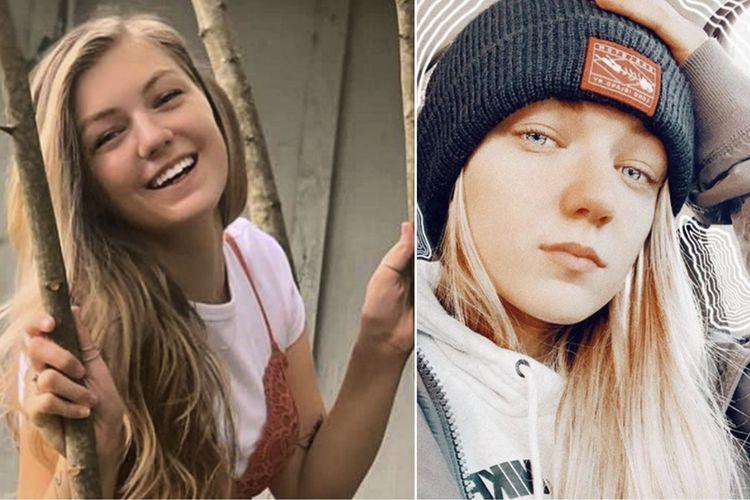 Kolase foto dari FBI Denver yang memperlihatkan wajah Gabrielle Gabby Petito (22), selebgram Amerika Serikat yang hilang saat jalan-jalan keliling AS dengan mobil van kemping bersama pacarnya. Laporan hilangnya Gabby Petito dibuat orangtuanya pada 11 September, dan jasad manusia yang sesuai dengan deskripsi perempuan itu ditemukan pada Minggu (19/9/2021).