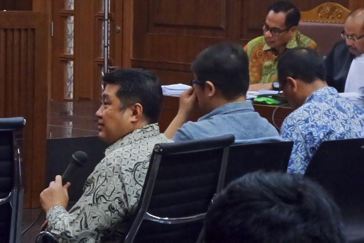 Anggota tim IT dalam konsorsium proyek e-KTP, Johanes Richard Tanjaya, saat bersaksi di Pengadilan Tipikor Jakarta, Kamis (20/4/2017).