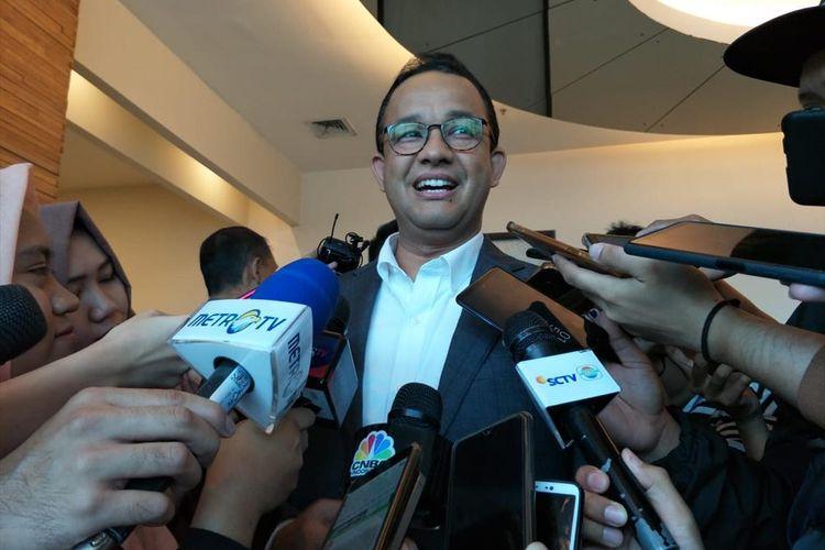 Gubernur DKI Jakarta Anies Baswedan di Kasablanka Hall, Jakarta Selatan, Sabtu (10/8/2019)
