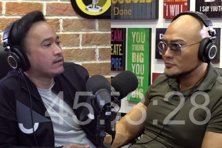 Ruben Onsu dan Deddy Corbuzier dalam podcast Deddy.