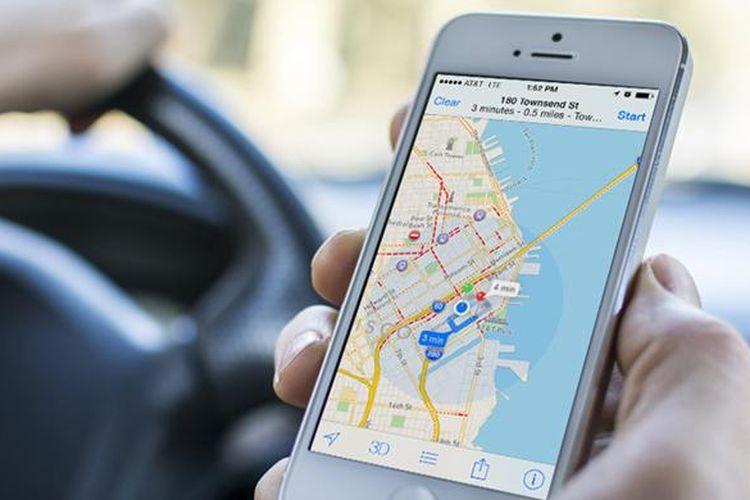 Ilustrasi Apple Maps