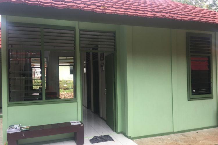 Rumah Conwood di Mako Group 1 Kopassus, Serang, Banten yang dibuat tanpa material kayu.