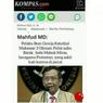 [HOAKS] Berita Mahfud MD Sebut Pelaku Bom Makassar 3 Oknum Polisi