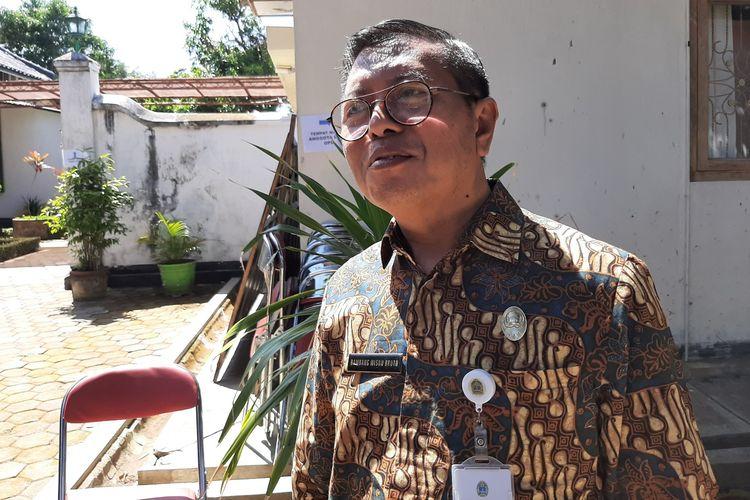 Kepala Dinas pertanian dan Pangan Kabupaten Gunungkidul, Bambang Wisnubrotoditemui di Bangsal Sewoko Projo, Wonosari, Kamis (20/6/2019).