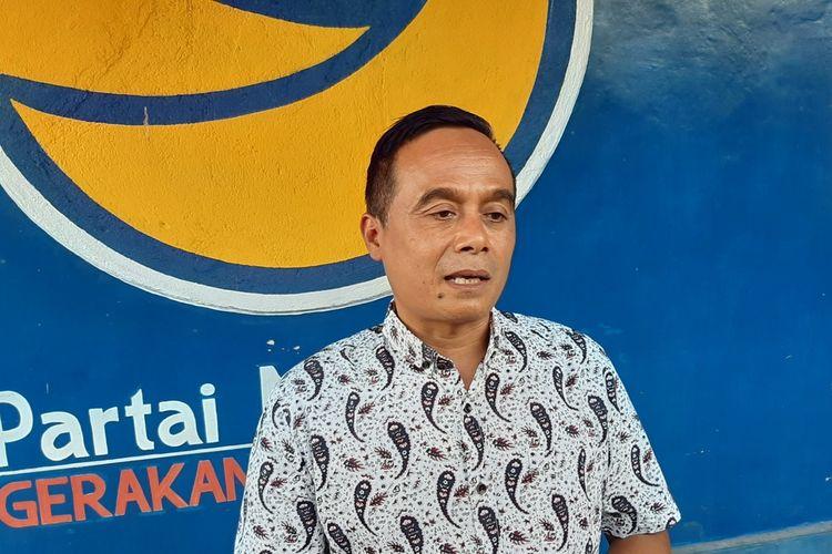 Sekretaris DPW Nasdem DIY Suharno di rumahnya Senin (13/1/2020)