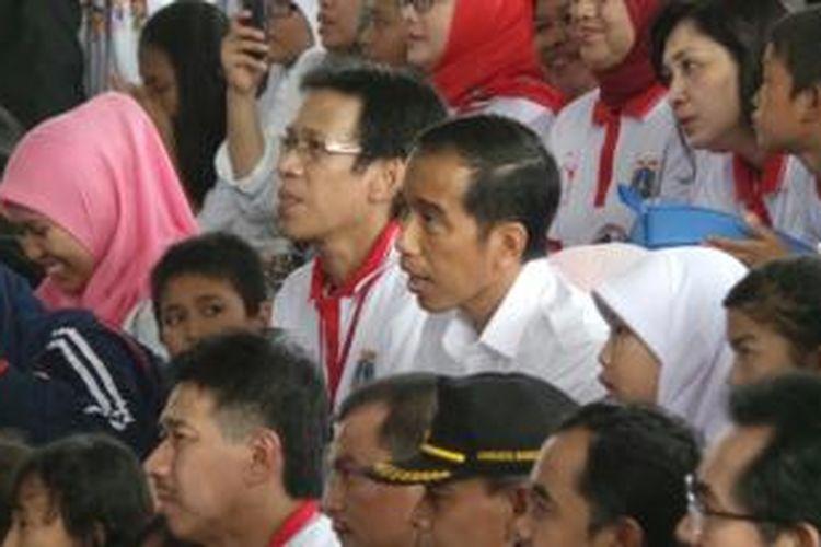 Gubernur DKI Jakarta Joko Widodo menghadiri acara Hari Anak Nasional tingkat provinsi di Dufan, Taman Impian Jaya Ancol, Jakarta Utara, Kamis (22/8/2013).