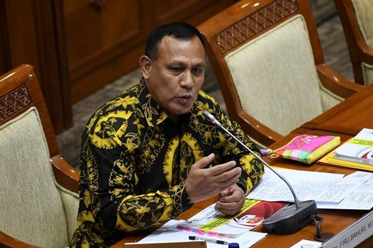 Calon pimpinan Komisi Pemberantasan Korupsi (KPK) Firli Bahuri menjalani uji kepatutan dan kelayakan di ruang rapat Komisi III DPR, Senayan, Jakarta, Kamis (12/9/2019).