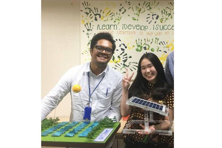 Dua mahasiswa UI, Clarissa Merry, mahasiswa jurusan Teknik Kimia FTUI dan Rivaldo Gurky, mahasiswa jurusan Teknik Mesin FTUI yang akan bersaing di tingkat Asia Pasifik dalam ajang kompetisi energi terbarukan ?Go Green in the City 2018?