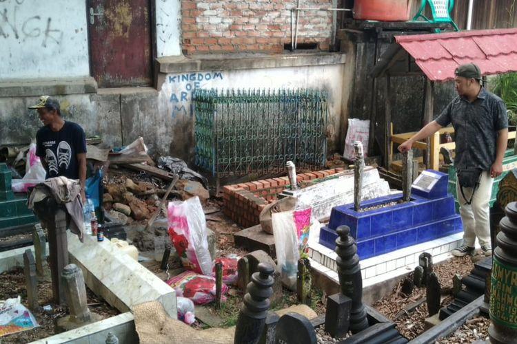 Tempat Pemakaman Umum (TPU) Jalan Abdul Hasan, Samarinda, Kalimantan Timur, Selasa (21/1/2020).