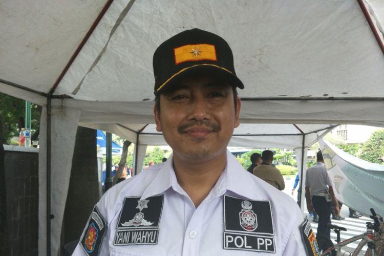 Kepala Satpol PP DKI Jakarta Yani Wahyu Purwoko saat ditemui di Jalan Thamrin, Jakarta Pusat, Minggu (6/5/2018).