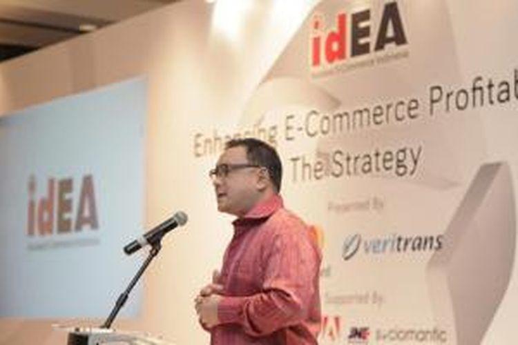 Daniel Tumiwa dalam event Asosiasi e-Commerce Indonesia (idEA).