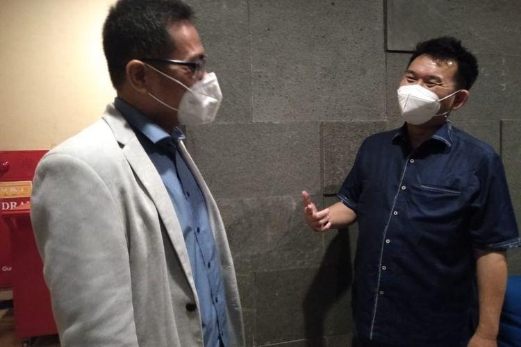 Andy K. Natanael bersama Sony Kusuma usai peluncuran Bale Tentrem