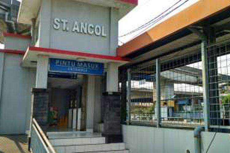 Stasiun Ancol, Jakarta Utara. Foto diambil Minggu (26/6/2016).