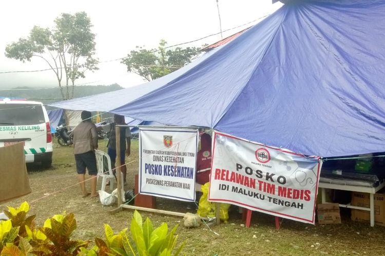 Posko Kesehatan pengungsi di Desa Waai, Kecamatan Salahutu, Kabupaten Maluku Tengah,