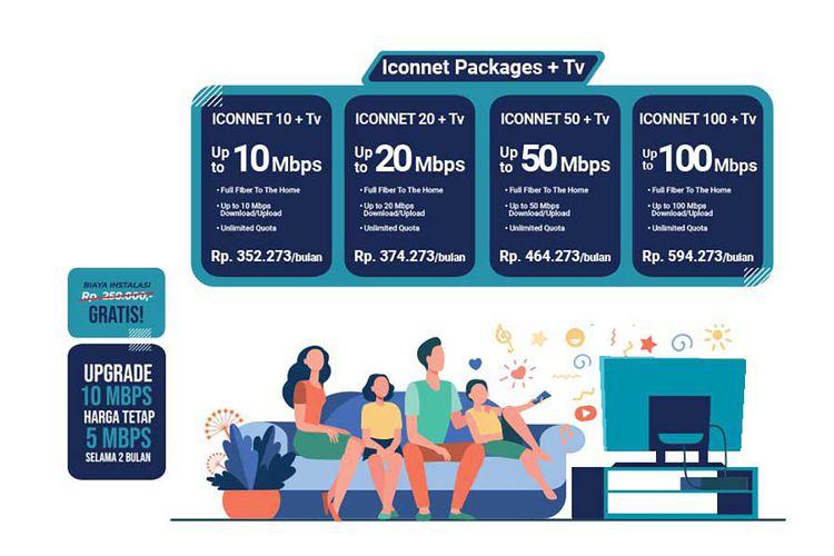 Paket internet dan IPTV dari Iconnet