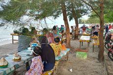 Penampakan Pantai Pasir Padi Pangkalpinang, Dipadati Ribuan Pengunjung Walau Pandemi Belum Berakhir