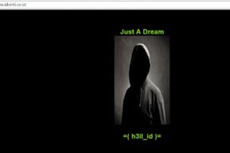 Situs ID-Sirtii diretas dan diubah tampilannya oleh peretas yang mengaku sebagai h3ll_id