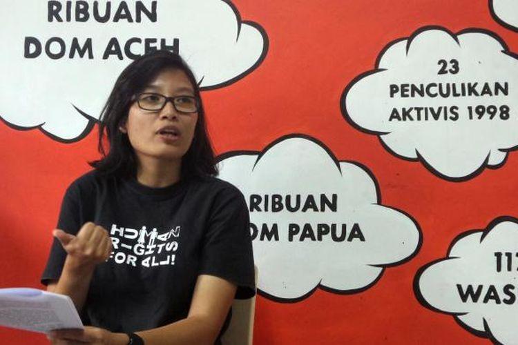 Wakil Koordinator Kontras Puri Kencana Putri.