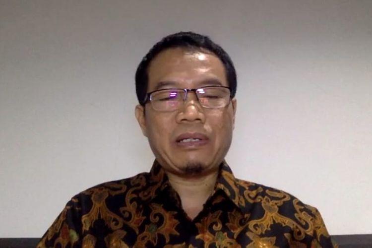Jubir Tim Gugus Tugas Penanganan Covid-19 Kaltim Andi M Ishak saat memberi keterangan pers melalui video konferensi di Samarinda, Kaltim, Sabtu (6/6/2020).