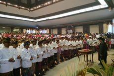 55 Anggota DPRD Bali Terpilih Dilantik dengan Pakaian Adat