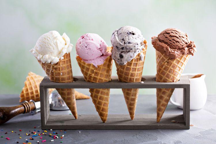 Ilustrasi ice cream dan gelato