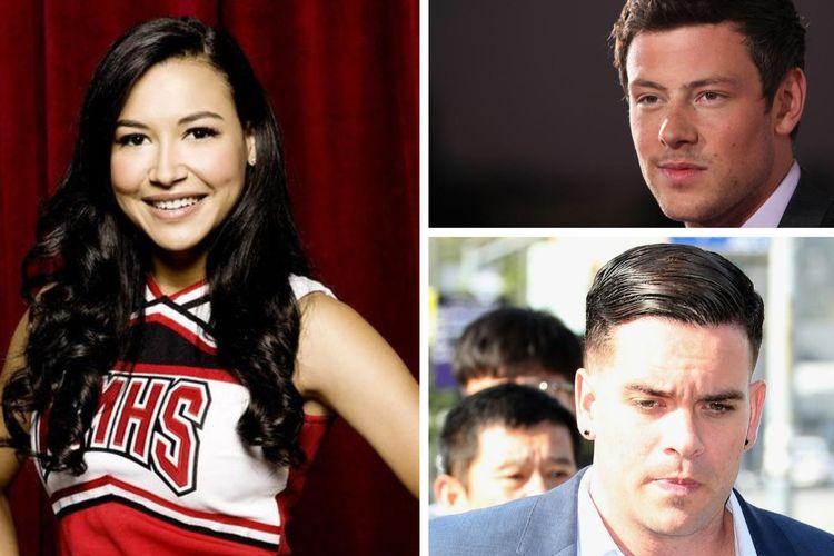 Tiga bintang serial Glee, Naya Rivera, Cory Monteith, dan Mark Salling