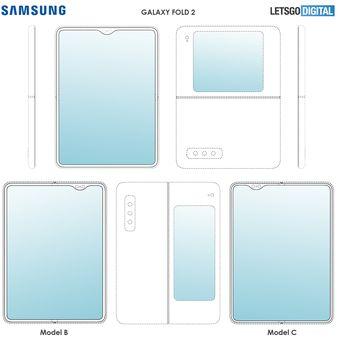 Samsung diketahui telah mengajukan paten rancangan ponsel layar lipat Galaxy Fold 2