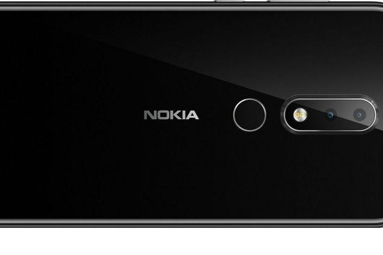 Tampilan belakang Nokia X6