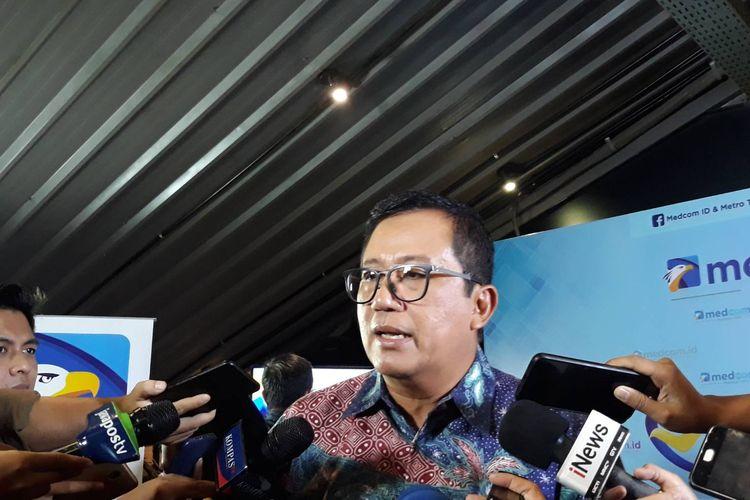 Politisi Partai Demokrat Didi Irawadi dalam sebuah diskusi di kawasan Gondangdia, Jakarta Pusat, Minggu (29/12/2019).