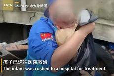 Video Viral Penyelamatan Bayi Tertimbun Reruntuhan Selama 24 Jam Saat Banjir di China