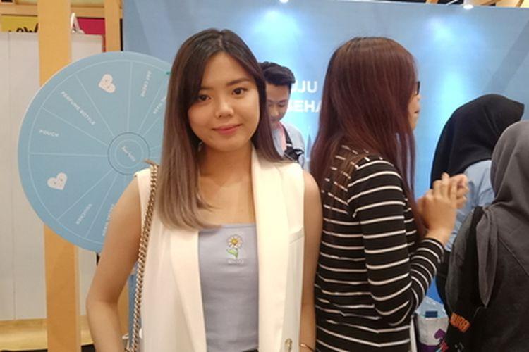 CEO Harlette Beauty, Valencia Nathania ketika ditemui di event Jakarta X Beauty, Juli 2019.