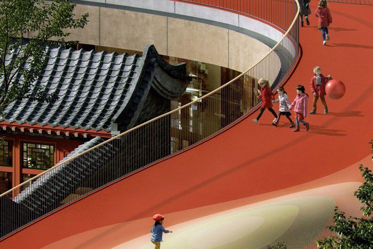 Area bermain anak-anak, Beijing.