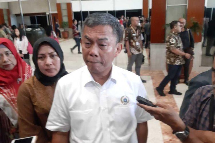 Ketua DPRD DKI Jakarta Prasetio Edi Marsudi di Gedung DPR RI, Senayan, Kamis (27/2/2020)