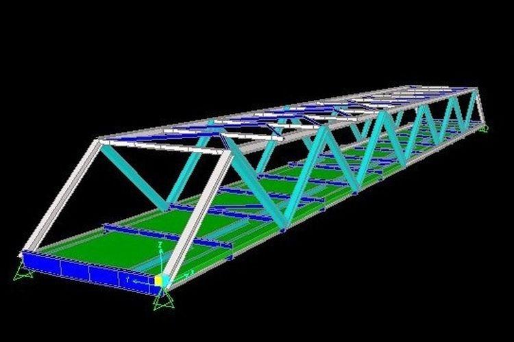 Visualisasi desain jembatan yang dirancang oleh mahasiswa ITS.