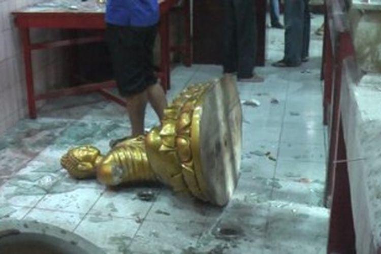 Vihara di Banda Aceh yang diobrak-abrik seorang pemuda, Selasa (2/7/2013).