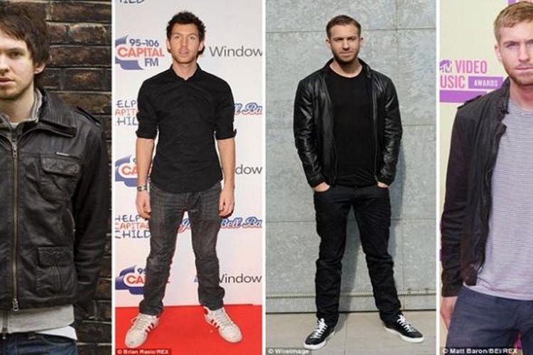 Evolusi gaya busana dan penampilan Calvin Harris dari waktu ke waktu.