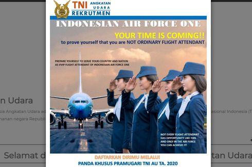 TNI AU Buka Rekrutmen Pramugari Pesawat Kepresidenan, Berikut Syarat dan Lokasi Pendaftarannya