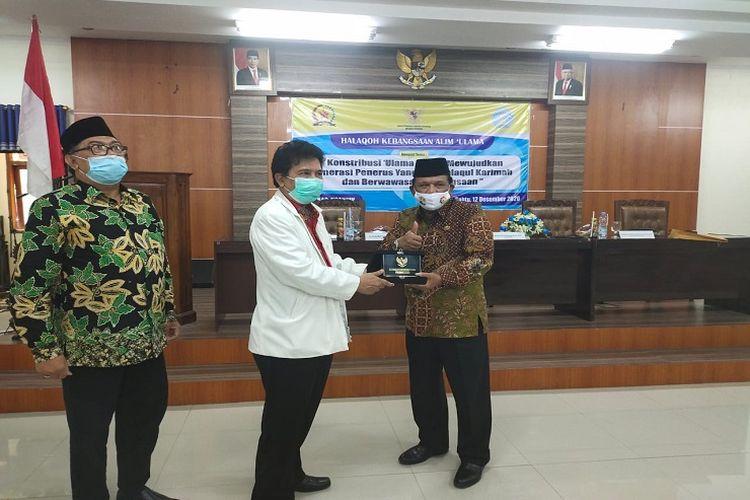 Badan Pembinaan Ideologi Pancasila (BPIP) dan Forum Komunikasi Umat Beragama (FKUB) Kabupaten Nganjuk, Jawa Timur menggelar Halaqah Kebangsaan Alim Ulama, Sabtu (12/12/2020).