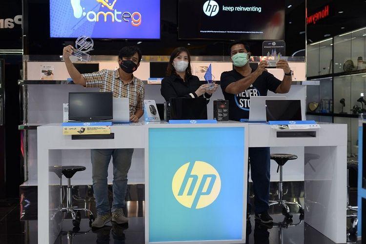 HP mempercayakan PT Airmas Teknologi Grosiria untuk menjadi partner exclusive store di Shopee Mall.