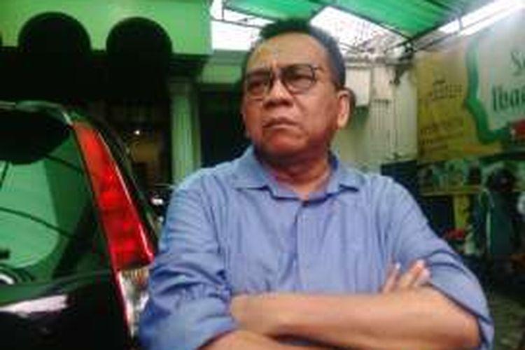 Ketua DPD Gerindra DKI Mohamad Taufik, di acara diskusi di Tebet, Jakarta Selatan. Sabtu (27/8/2016)
