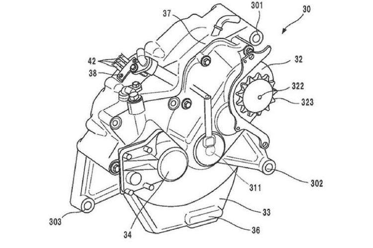 Paten untuk motor listrik Honda