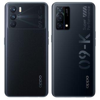 Perbedaan desain punggung Oppo K9 Pro (kiri) dan Oppo K9 (kanan).
