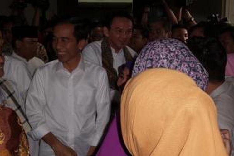 Suasana saat Joko Widodo berpamitan dengan PNS Balaikota DKI, Jumat (17/10/2014).