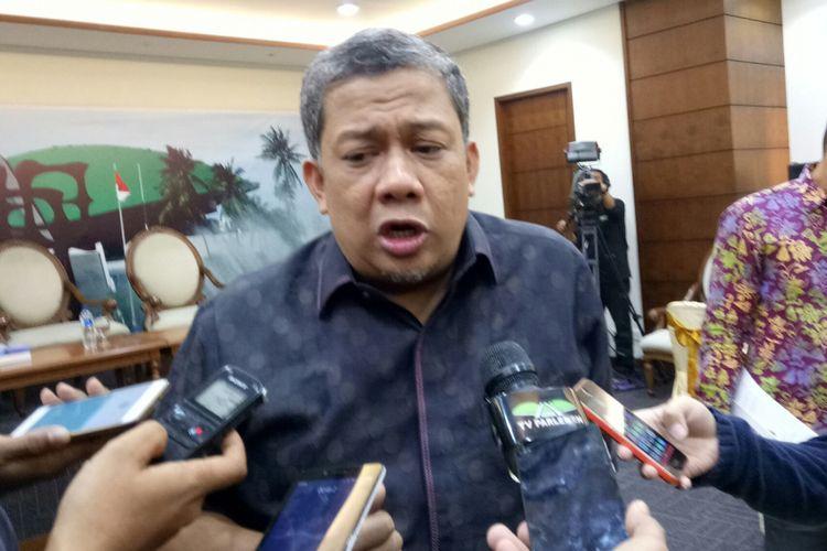 Wakil Ketua DPR Fahri Hamzah di Kompleks Parlemen, Senayan, Jakarta