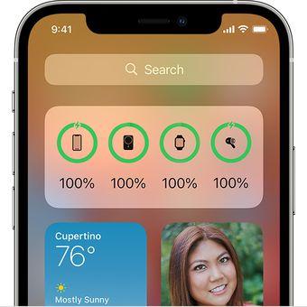 Kapasitas MagSafe Battery Pack dapat dilihat dari widget baterai atau lock screen di iPhone 12