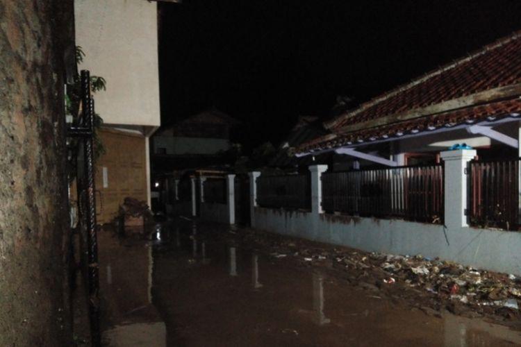Kondisi rumah warga Kampung Cipeundeuy, Padalarang, Kabupaten Bandung Barat pascai siden banjir bandang Selasa (31/12/2019) malam.