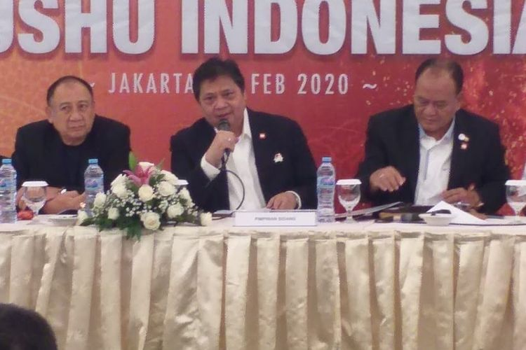 Pengurus Besar Wushu Indonesia (PB WI) menggelar Rapat Kerja Nasional (Rakernas) di Jakarta pada Sabtu (29/2/2020).