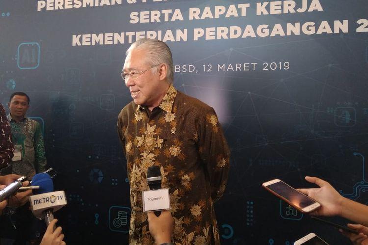 Menteri Perdagangan Enggartiasto Lukita Saat Pembukaan Acara Rapat Kerja, Selasa (12/3/2019)